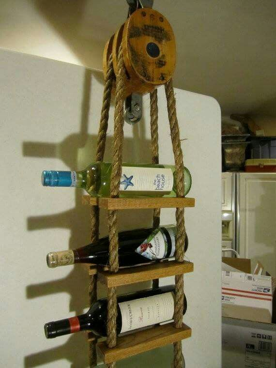 Pully wine rack