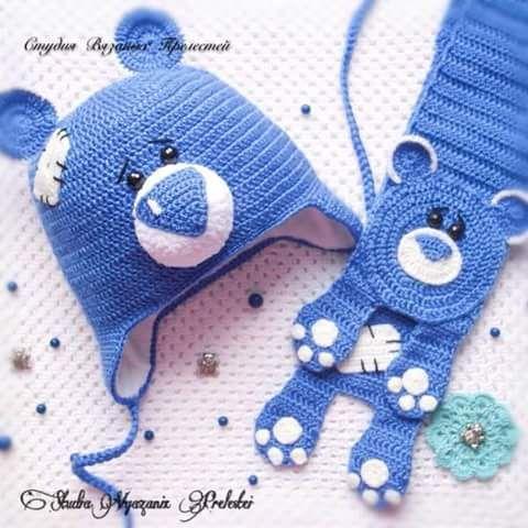 قبعة كروشية للأطفال مع زوائد للأذنين Crocheted Hat For Kids Crochet Hats Crochet Crochet Kids Hats
