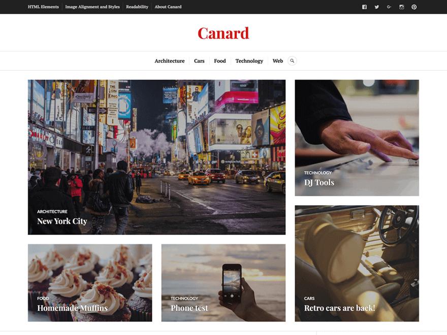 Canard - Free Photography WordPress Theme | Free WordPress Themes ...