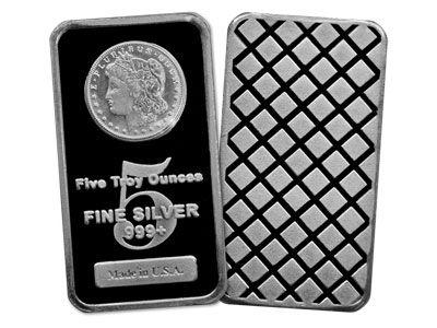 5 Ounce Usa Minted Silver Bullion Bar Buy Silver Bullion Silver Bullion Gold Bullion Coins