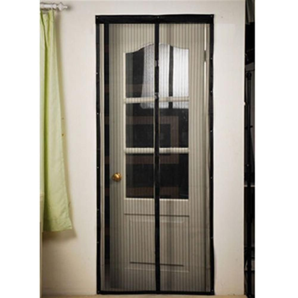 210 X 100cm Black Hands Free Magnetic Soft Door Anti Mosquito Bug