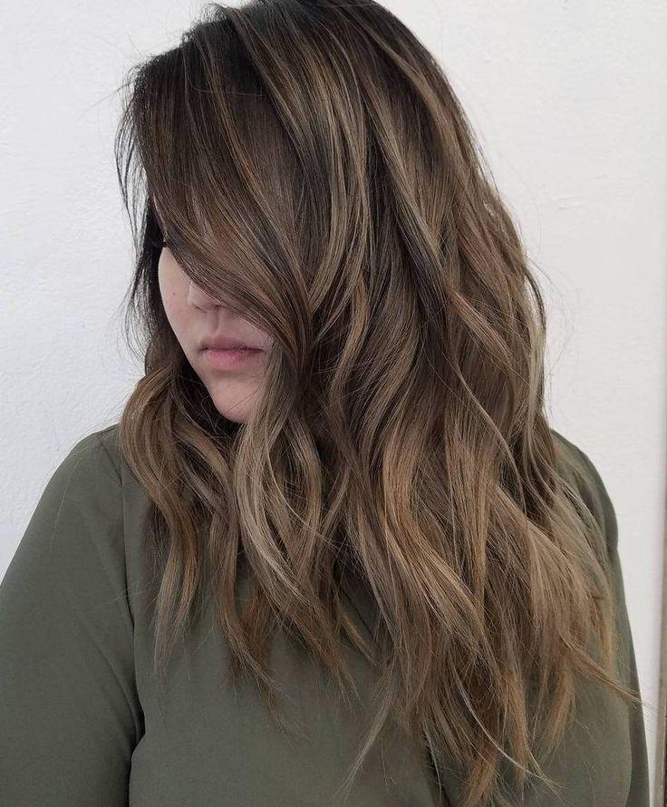 15 lange frisuren für dickes haar zu suchen attraktiv