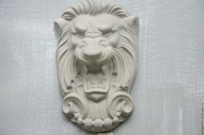 голова льва из бетона купить