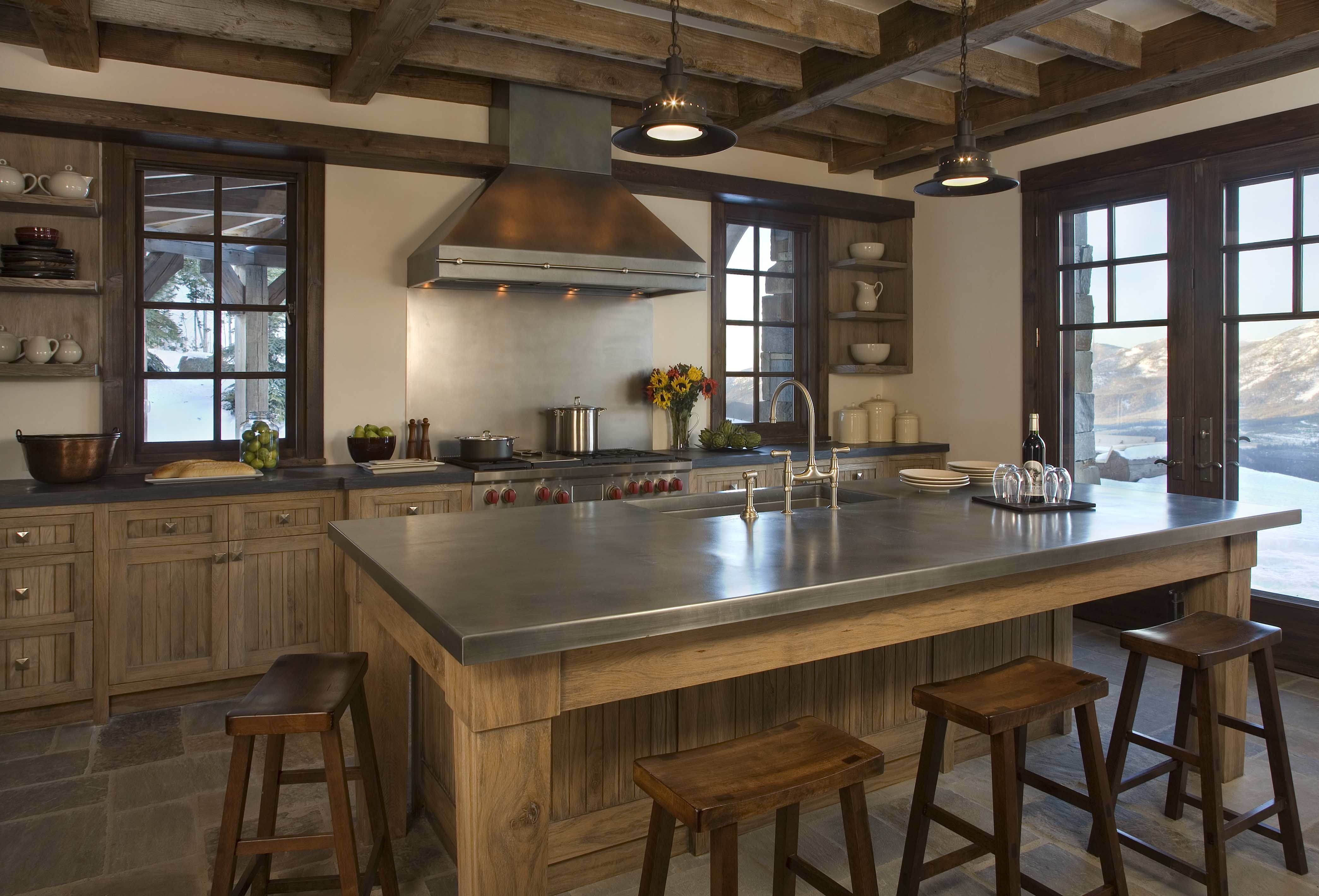 cabininspired interiors cabin interiors and rustic kitchen