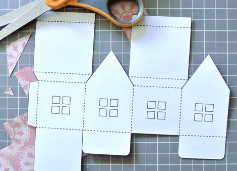 Paper House With Printable Template  Christmas