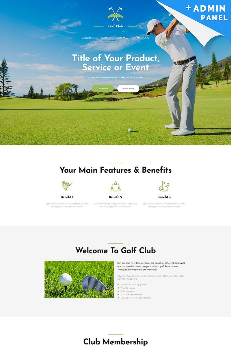 Golf Club MotoCMS 3 Landing Page Template #65038