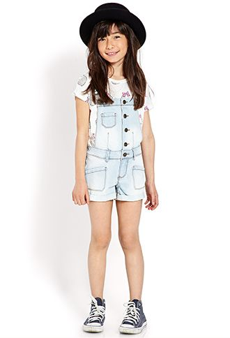 83801ebe0800 light denim short overalls for tweens