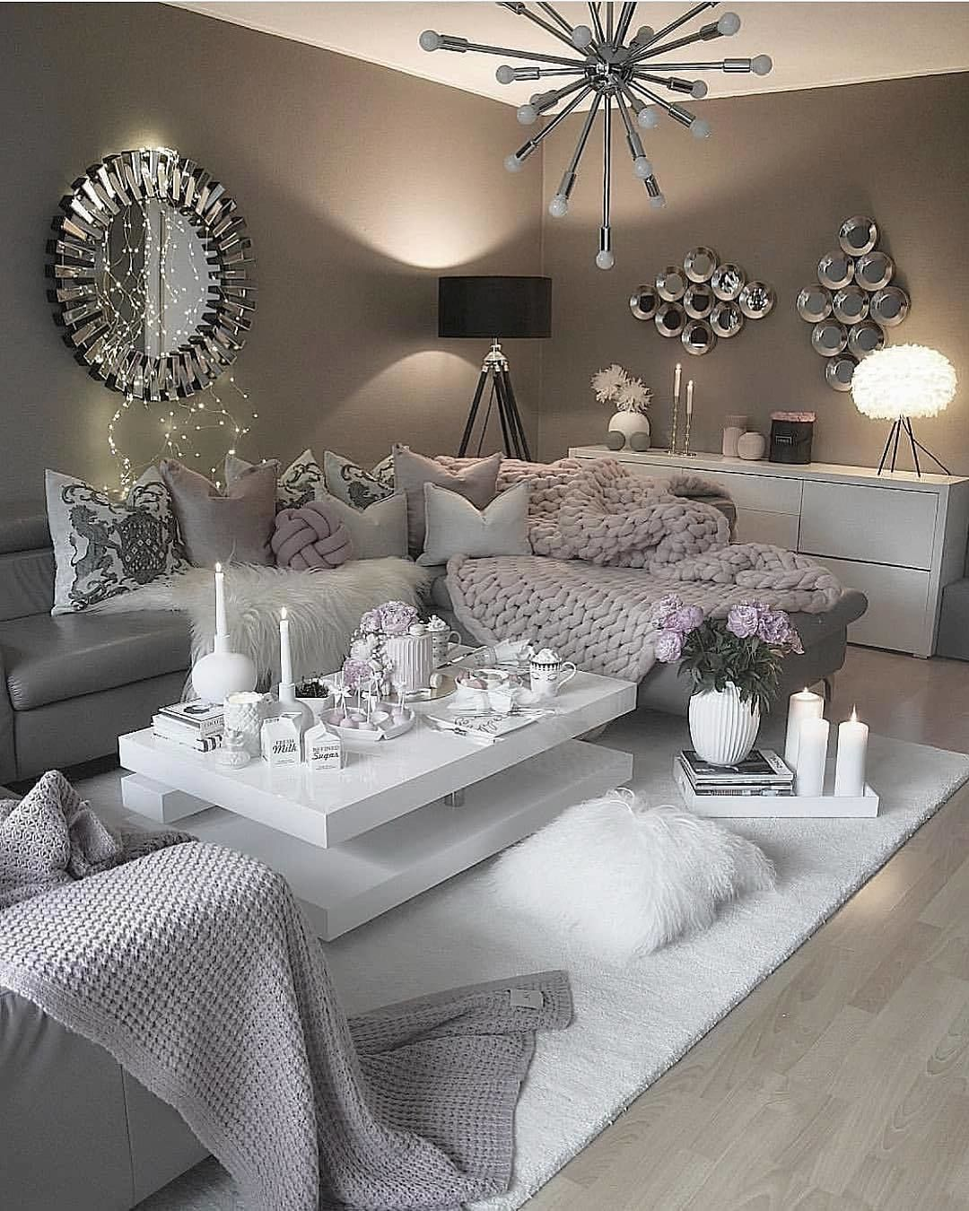 Cozy living room by zeynepshome apartment future house beautiful rooms also home decor rh pinterest