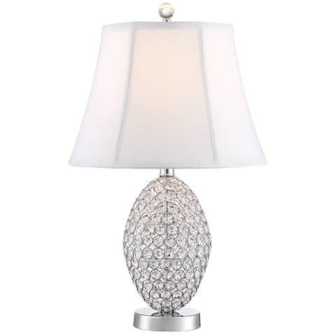 Magda Crystal Table Lamp 9m862 Lamps Plus Crystal Table Lamps Lamp Contemporary Table Lamps