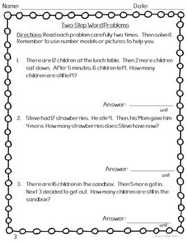 42+ Multi step word problems 3rd grade information