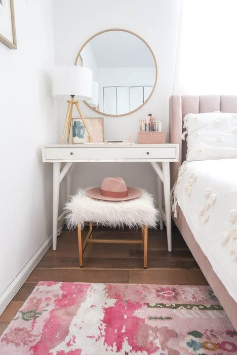 This dreamy bedroom nook is also a clever solution for small spaces