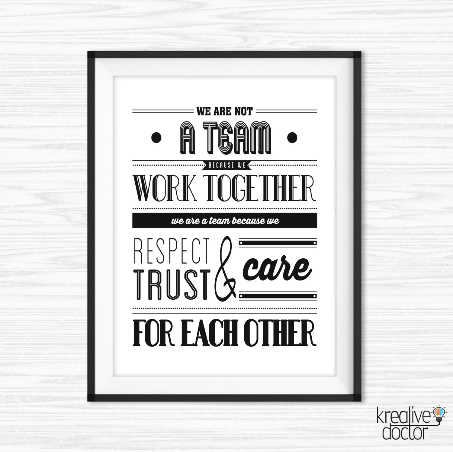 Teamwork Quotes For Office Wall Art