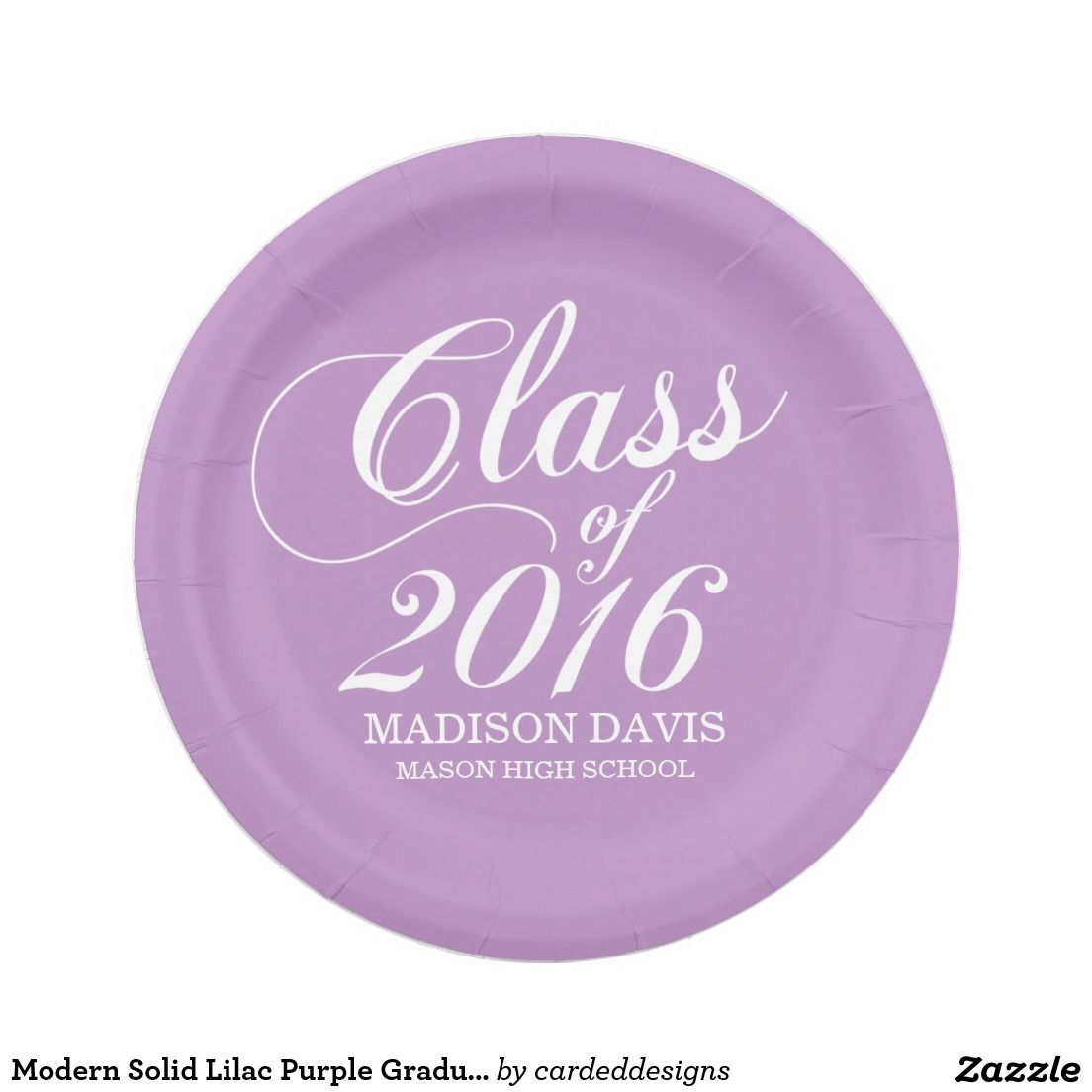 Modern Solid Lilac Purple Graduation Paper Plates 7 Inch Paper Plate  sc 1 st  Pinterest & Modern Solid Lilac Purple Graduation Paper Plates 7 Inch Paper Plate ...