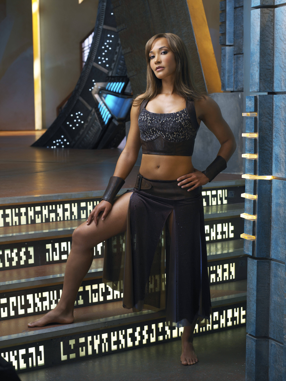 Rachel Luttrell as Teyla Emmagen on Stargate Atlantis