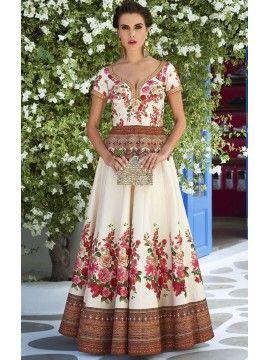Glamorous Off White Online Designer Gown