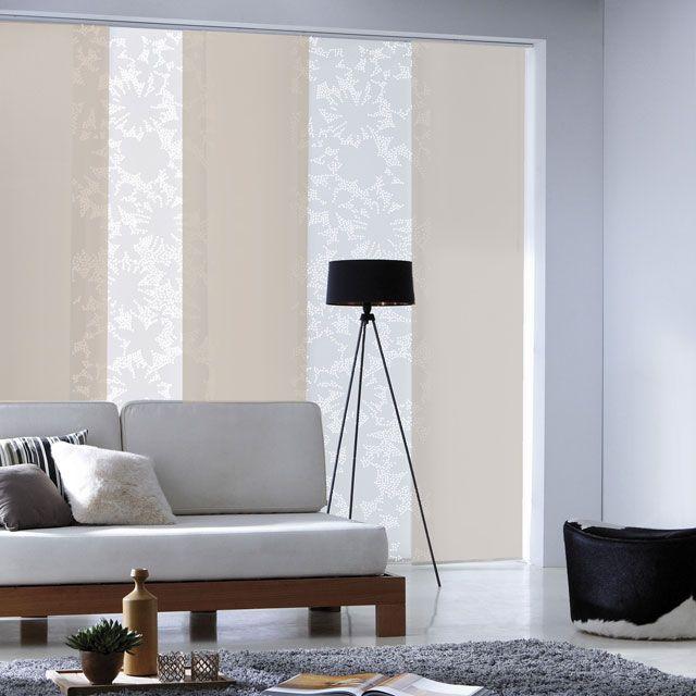 Panneau japonais blanc dévoré Rondo 45 x 260 cm - CASTORAMA Idées