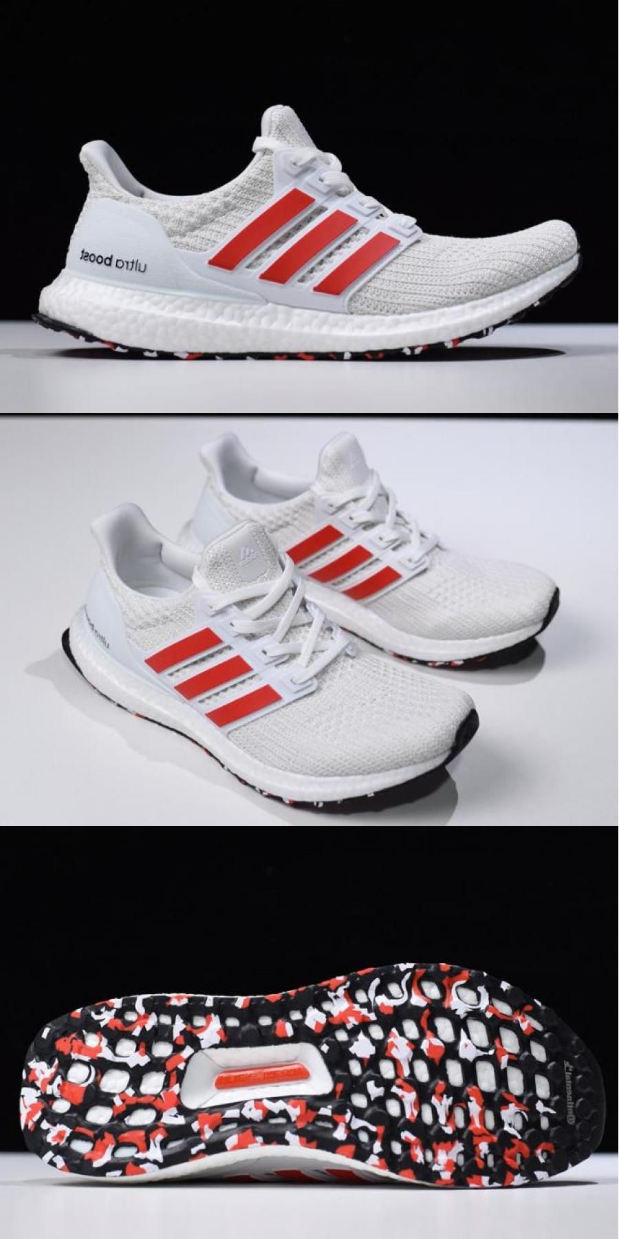 adidas ultra boost red stripes
