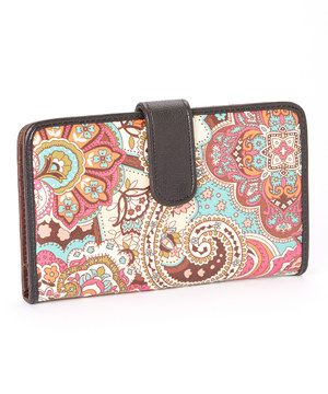 Love this Color and Color, Inc. Black & Pink Paisley Organizer Wallet by Color and Color, Inc. on #zulily! #zulilyfinds