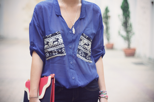 I love patch pockets! Love this top.