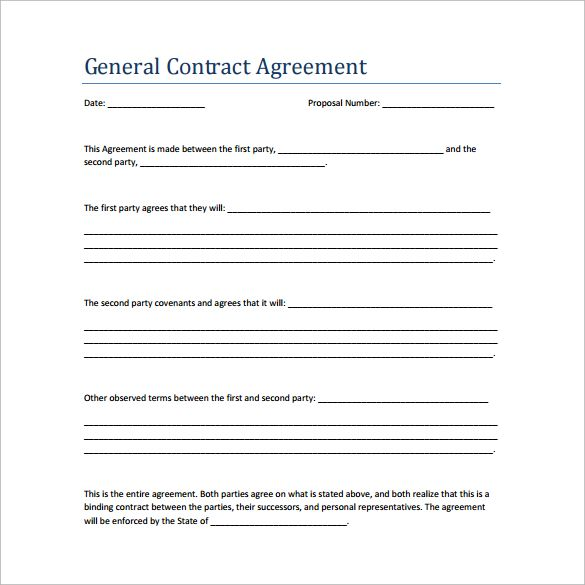 Sample Contract Agreement 13 Free Documents Download In