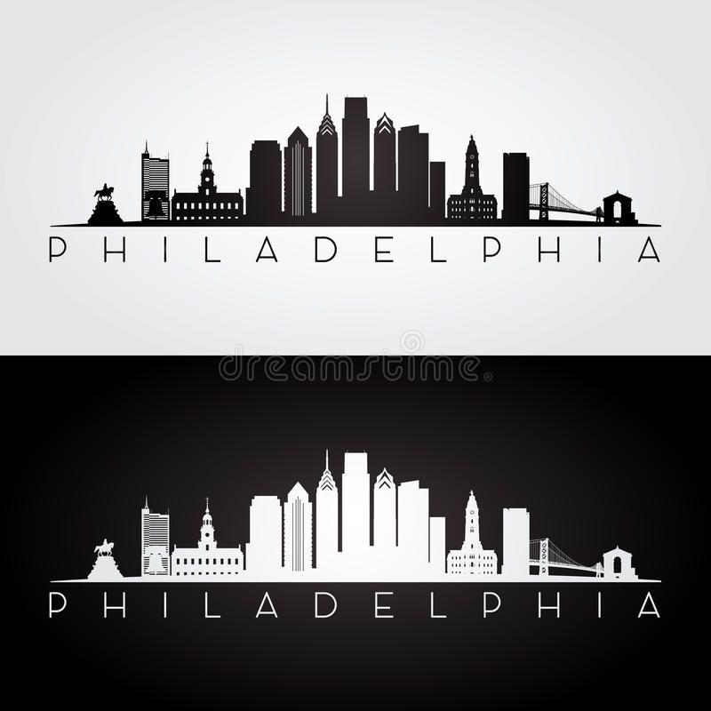 philadelphia skyline silhouette. philadelphia usa skyline and landmarks  silhouet , #sponsored,… | philadelphia skyline, philadelphia skyline art, skyline  silhouette  pinterest
