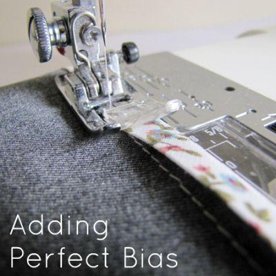 Sewing on Bias Binding Tutorial