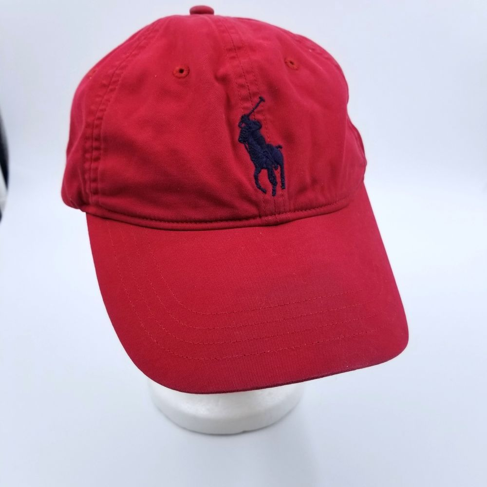 9381d78dce9 Polo Golf Ralph Lauren Men Pony Logo Adjustable Hat Cap One Size Red Cotton   RalphLauren  Golf