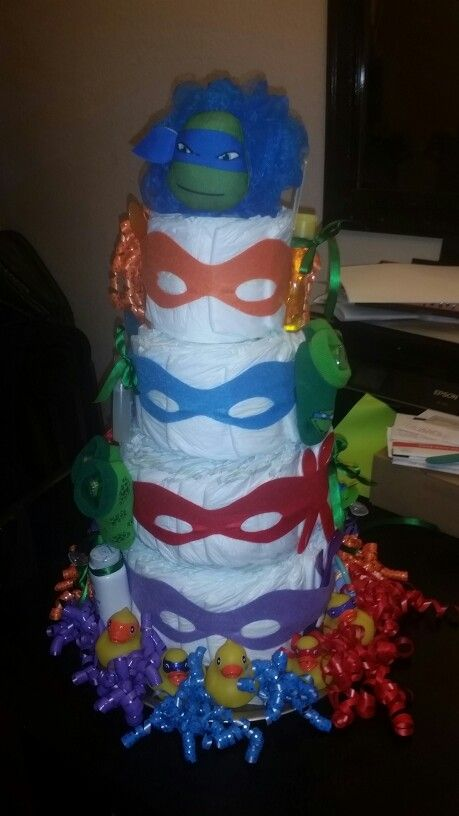 Teenage Mutant Ninja Turtle Diaper Cake My Stuff Pinterest