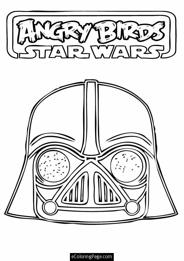 Angry Birds Star Wars Darth Vader Printable Coloring
