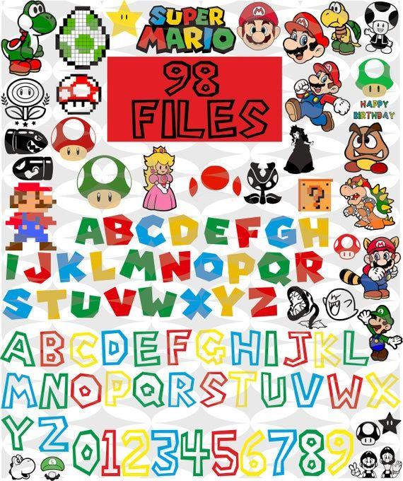 Super Mario svg,Super Mario Svg Bundle,mario bros svg