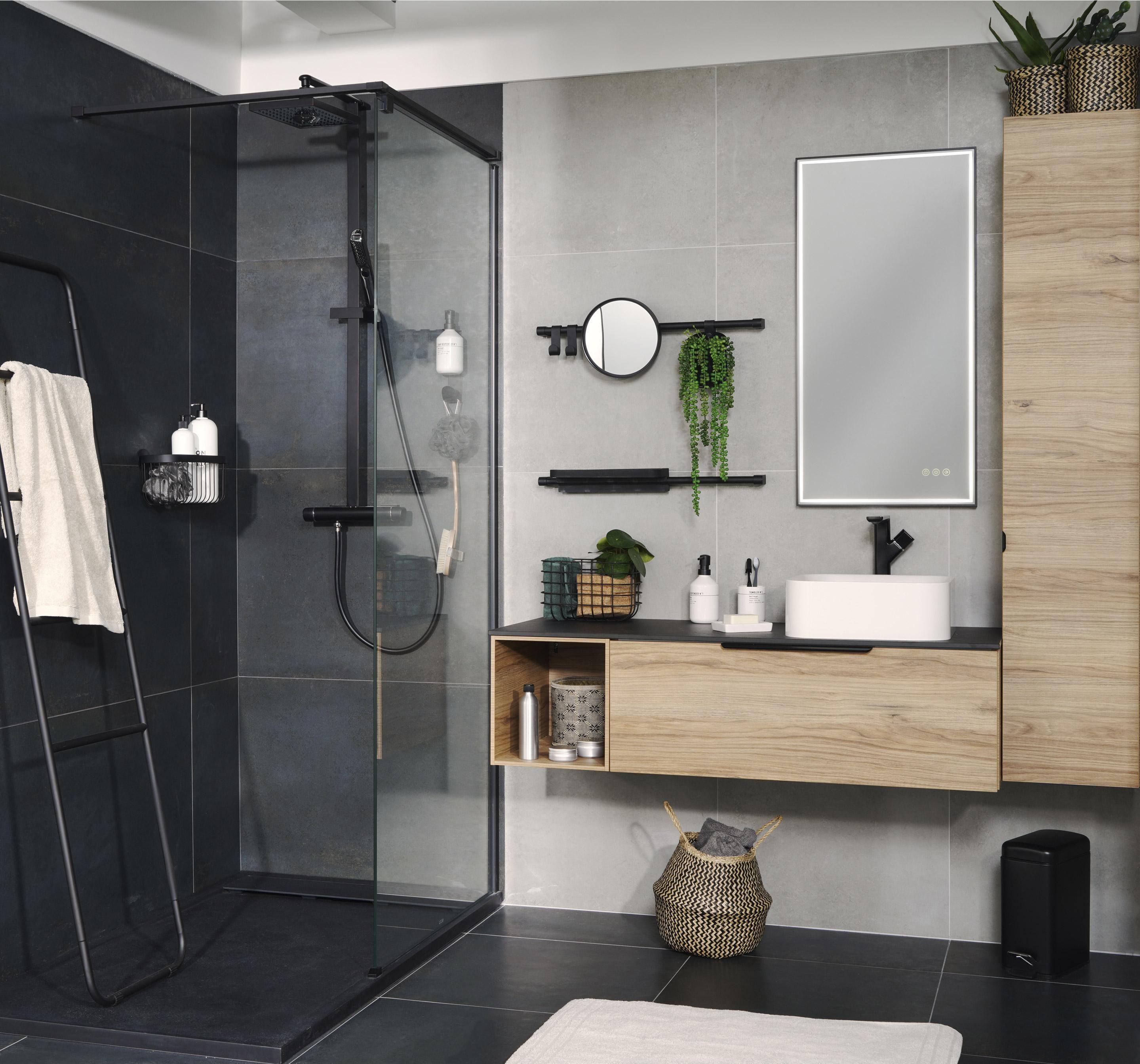 Meuble de salle de bains simple vasque, Neo line