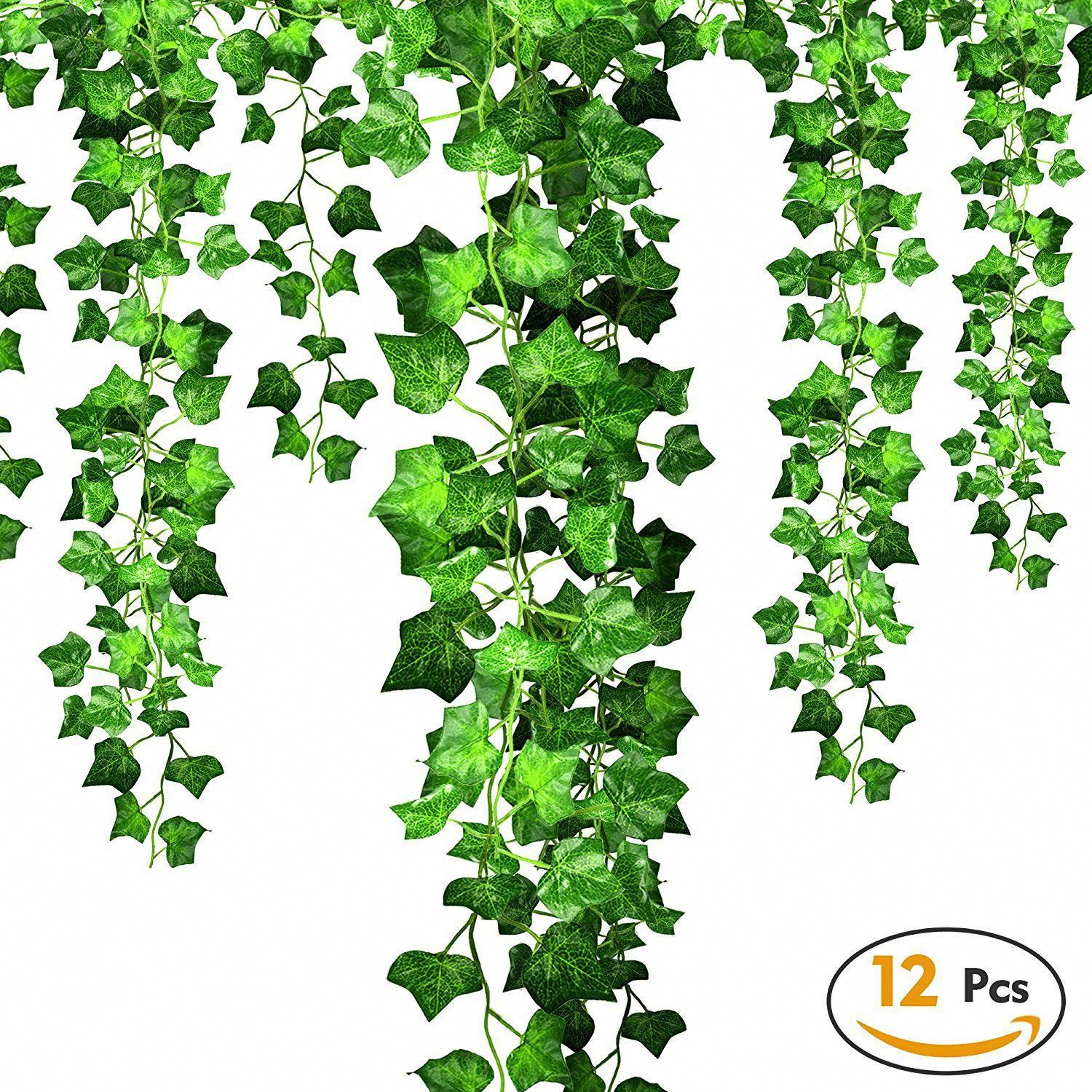 Artificial Decorations Temperate Artificial Maple Leaves Ivy Vines Simulation Plants Maple Rattan Garland Fences Windows Wall Stairway Hanging Decoration Party Non-Ironing Home & Garden