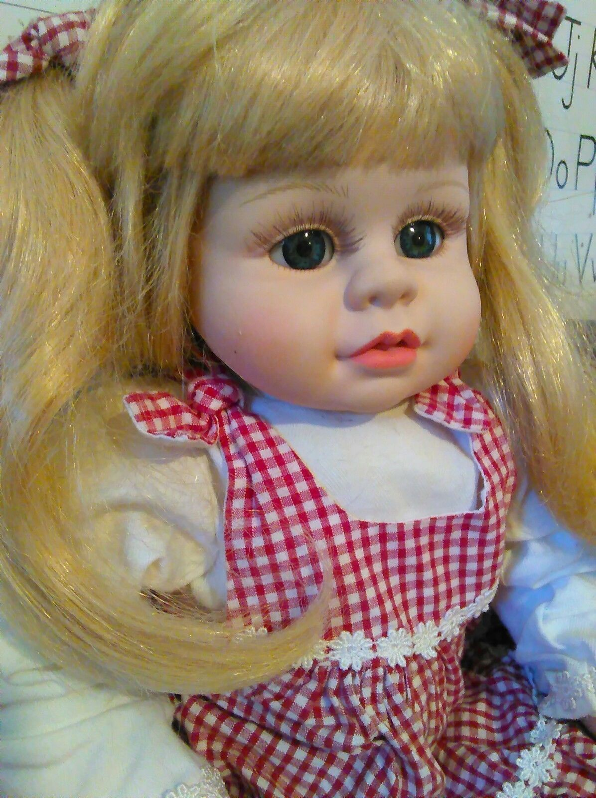 Doll Baby Blond Girl Toy  in LifeLike Vinyl Sweet and Innocent