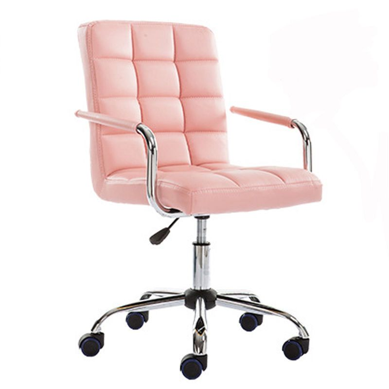 Swivel DINING/OFFICE/BAR CHAIR Wheels Lift PU Leather Modern Home ...