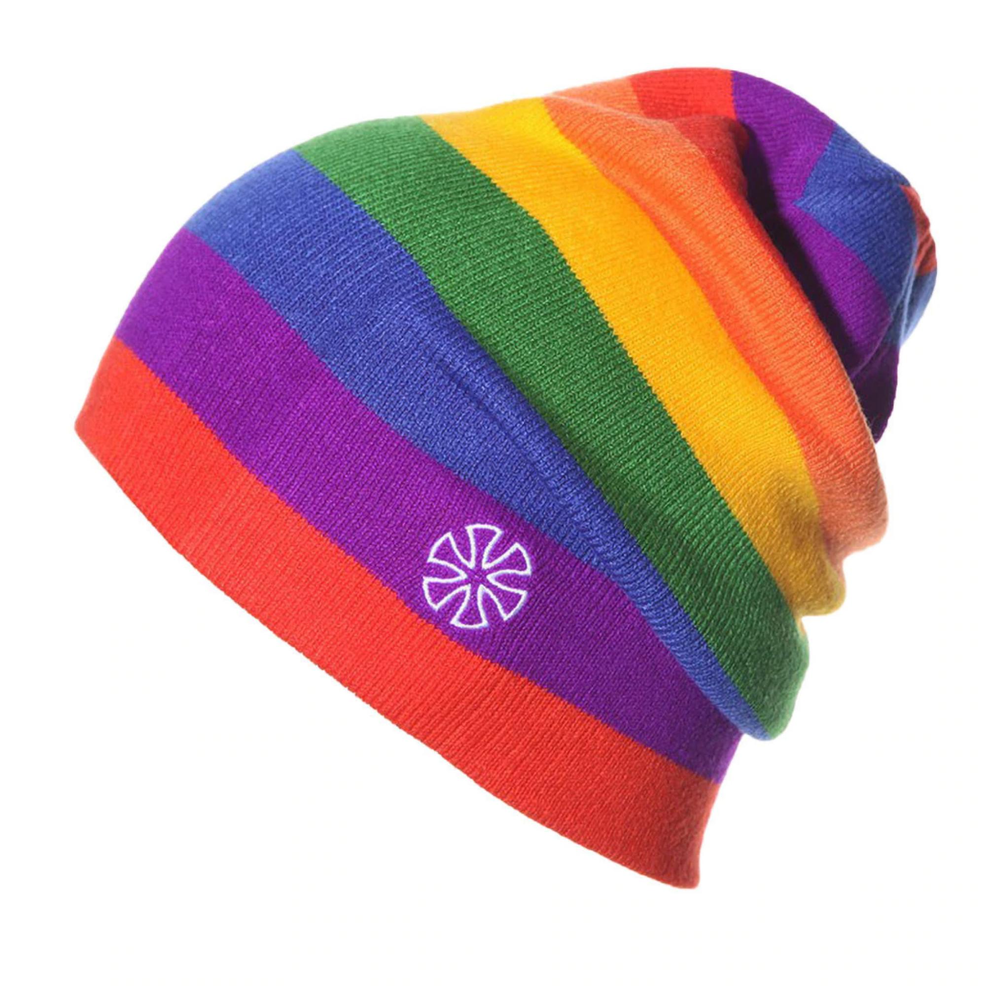 Knitted Rainbow Winter Beanie Hatbeanie Hat For Womenbeanie Etsy In 2021 Winter Hats For Men Winter Hats For Women Knit Hat For Men
