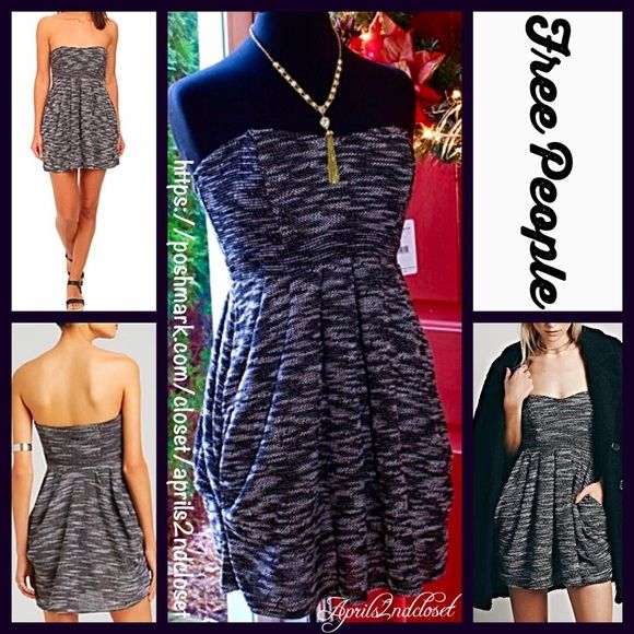 """FREE PEOPLE Black Party DressStrapless Cocktail RETAIL PRICE: $128 NEW WITH TAGS  FREE PEOPLE Black Tube Mini Dress * Super soft & lightweight knit  * Strapless bodice w/boning for support * Side pockets, raw hem detailing, & hidden side zip * It measures about 26"""" longfrom top of bodice  * Stretch-to-fit style; Tagged 2 (XS), will fit sizes 0-2  Fabric:95% cotton & 5% spandex Color:Black & Ivory combo Item:624500  No Trades ✅Fair Offers Considered*/Bundle Discounts✅ *Please…"""
