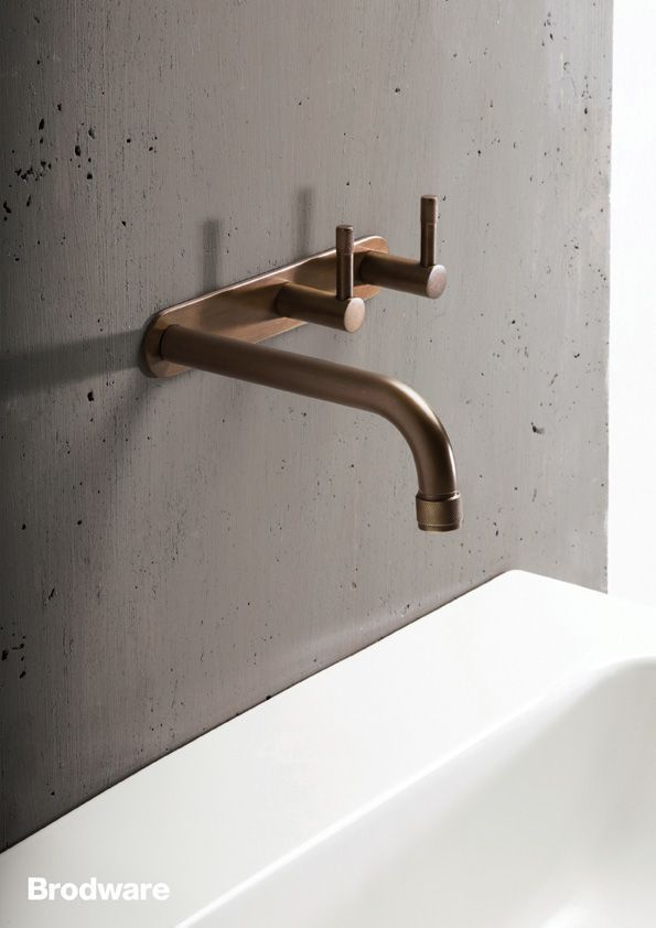 Details we like / Bathroom / Sink / Faucet / Bras / Concrete / at ...