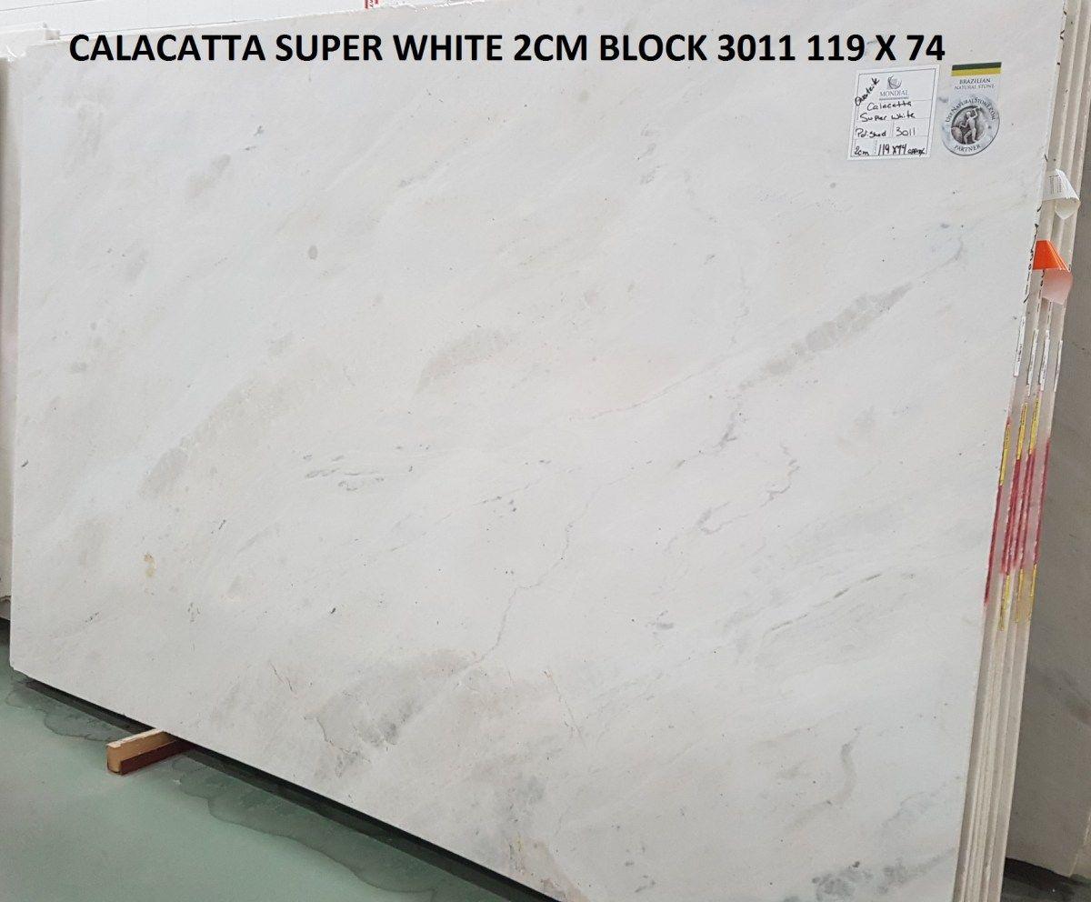 Calacatta Super White Quartzite Block 3011 2cm