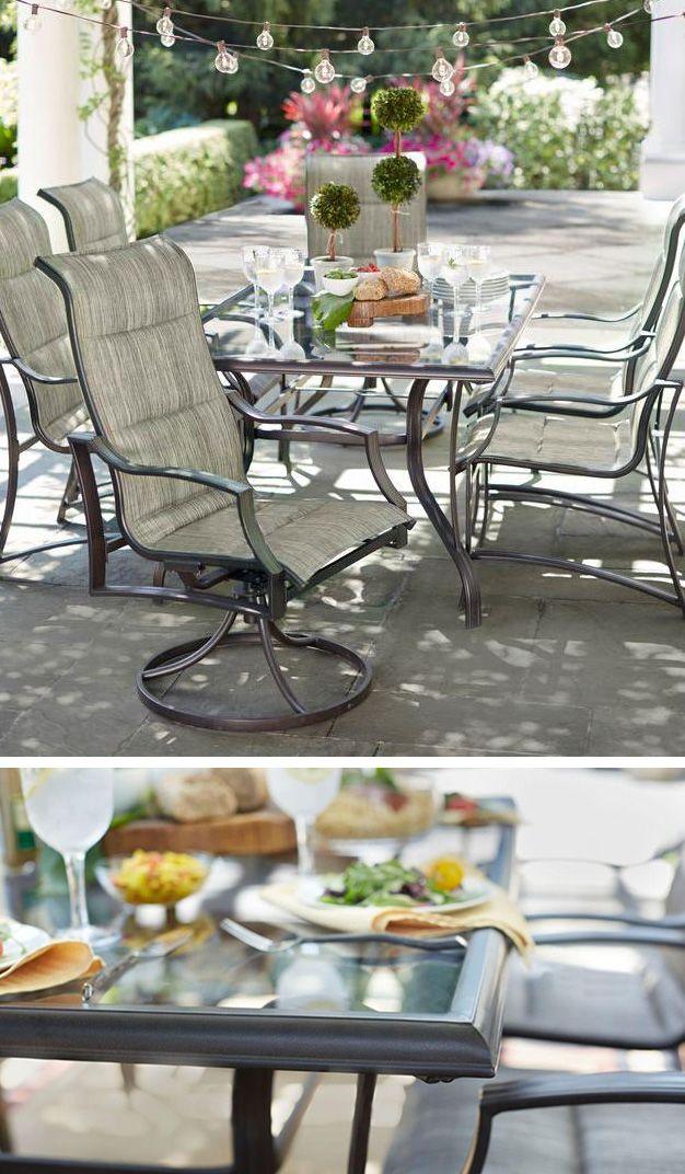 Hampton Bay Statesville Patio Furniture.Hampton Bay Statesville 7 Piece Padded Sling Patio Dining Set