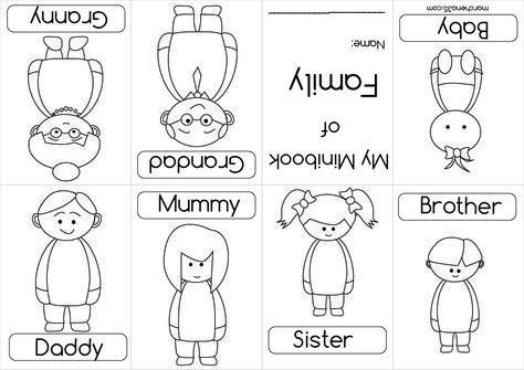 Family Coloring Book Google Search Preschool Family Mini Books Family Worksheet