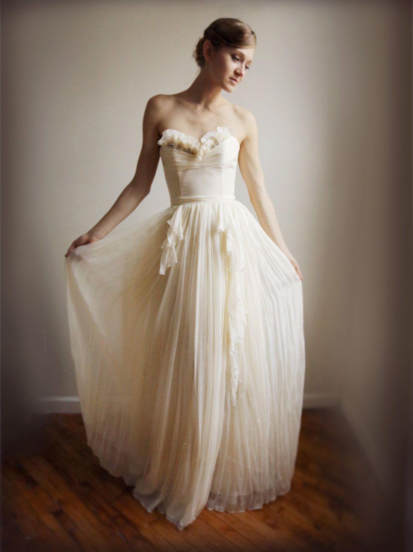 Alice Silk Chiffon Wedding Gown Sample Sale Size 8 My Someday