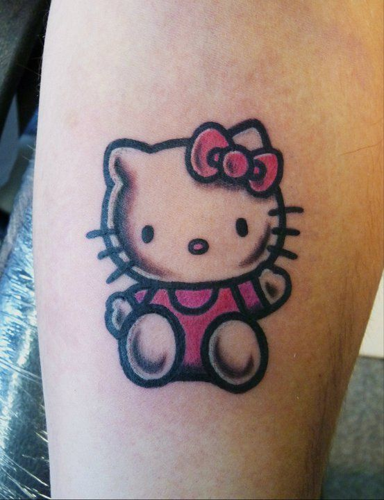 Pin By Kelly Sulimay On Tattoos Hello Kitty Tattoos Hello Kitty Cat Tattoo