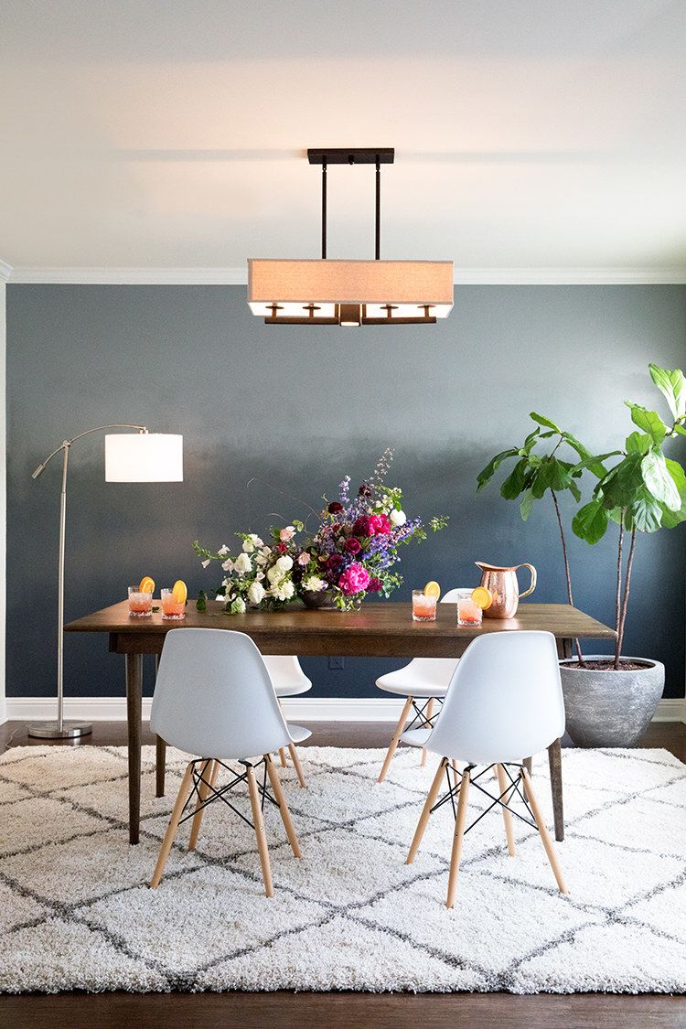 Create an eye-catching ombré wall in one room of your ...