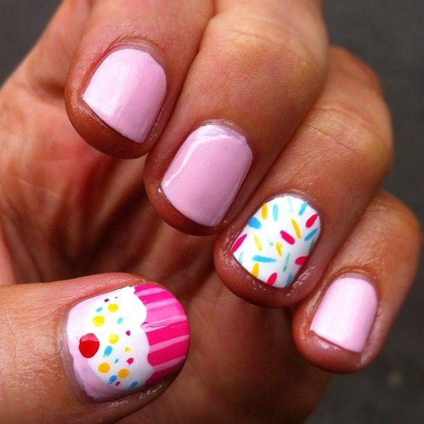 Perfectly Polished: Monday Manicure: Cupcakes & Sprinkles Nail Art - Perfectly Polished: Monday Manicure: Cupcakes & Sprinkles Nail Art