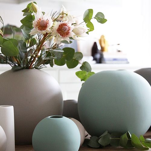 Cooee Ball Vase Dusty Green