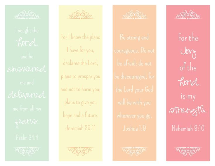 Free Bookmarks to Print Designs | Bible Verse bookmarks by ...