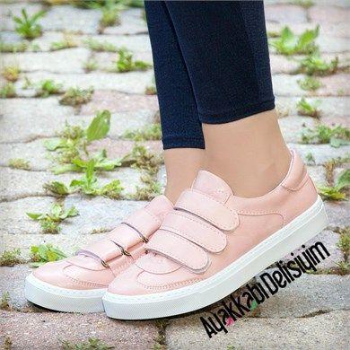 Pirit Pudra Cirt Cirtli Spor Ayakkabi Sneakers Pink Sports Ayakkabilar Spor Ayakabilar Sneaker