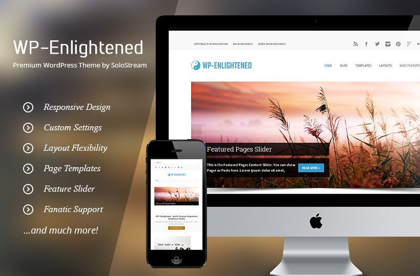 WP Enlightened - Premium WP theme for just $5  http://dealfuel.com/seller/premium-wp-theme/  #premiumwordpresstheme #wordpresstheme #wordpress #themes #webdevelopment