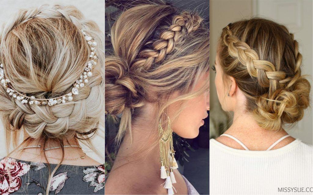 Peinados Para Bodas 77 Hermosas Ideas Para Novias E Invitadas Fotos Peinados Para Boda Peinados Con Trenzas Elegantes Moños Con Trenzas