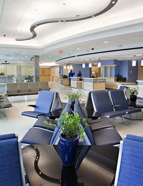 A Cooling, Soothing Sensation Medical Office Waiting Room.  #medicalofficefurniture